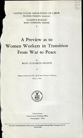 A Preview as to Women Workers in Transition from War to Peace PDF