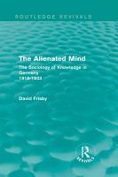 The Alienated Mind  Routledge Revivals  PDF