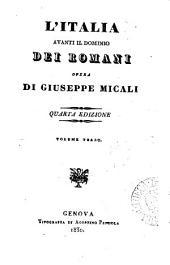 L'Italia avanti il dominio dei Romani: Volumi 3-4