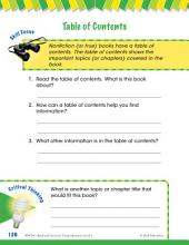 Read & Succeed Comprehension Level 1: Table of Contents Passages and Questions
