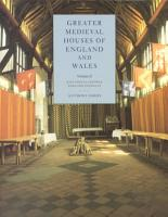 Greater Medieval Houses of England and Wales  1300 1500  Volume 2  East Anglia  Central England and Wales PDF