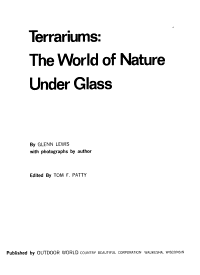 Terrariums  the World of Nature Under Glass PDF
