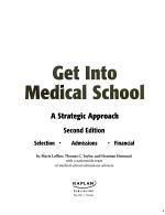 Get Into Medical School