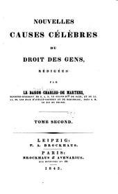 Nouvelles causes célèbres du droit des gens: Volume2