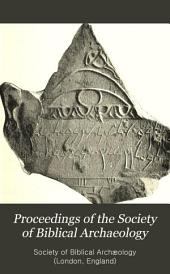 Proceedings of the Society of Biblical Archaeology