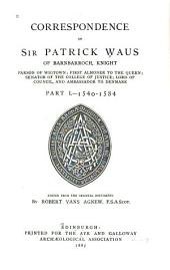 1540-1584. Part II. 1584-1597
