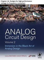 Analog Circuit Design Volume 2: Chapter 18. Designs for high performance voltage-to-frequency converters