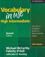 Vocabulary in Use High Intermediate Student s Book with Answers PDF
