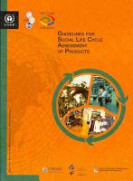Guidelines for Social Life Cycle Assessment of Products PDF