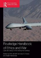 Routledge Handbook of Ethics and War PDF