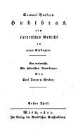 Hudibras  ein satyrisches Gedicht PDF