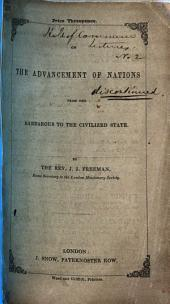 Lecture on the advancement of Nations from the barbarous to the civilized state