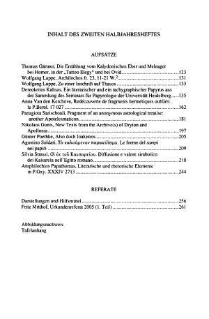 Archiv f  r Papyrusforschung und verwandte Gebiete PDF