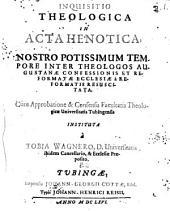 Inquisitio theologica in Acta Henotica