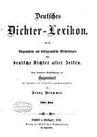 Deutscher dichter lexicon PDF