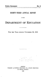 Annual Report of the Board of Education: Volume 83