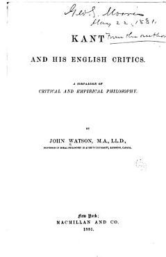 Kant and His English Critics PDF