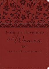 3-Minute Devotions for Women: Daily Devotional (burgundy)