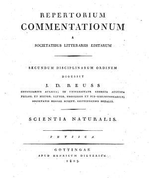 Repertorium commentationum a Societatibus litterariis editarum  Secundum disciplinarum ordinem digessit I  D  Reuss     Tom  1     16   PDF