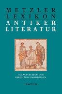 Metzler Lexikon antiker Literatur PDF