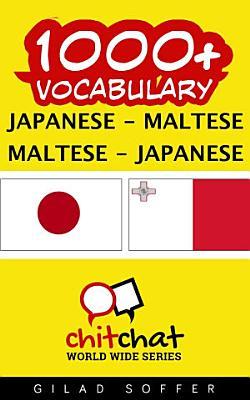 1000  Japanese   Maltese Maltese   Japanese Vocabulary