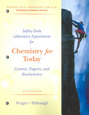 Safety Scale Laboratory Experiments for Chemistry for Today PDF