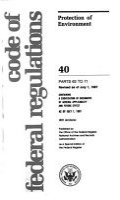 Code of Federal Regulations PDF