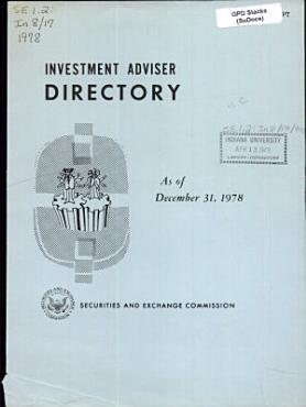 Investment Adviser Directory PDF