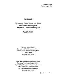 Optimizing Water Treatment Plant Performance Using the Composite Correction Program PDF