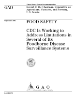 Food safety CDC is working to address limitations in several of its foodborne disease surveillance systems  PDF