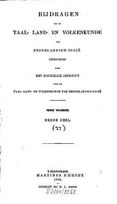 Bijdragen tot de taal   land  en volkenkunde PDF