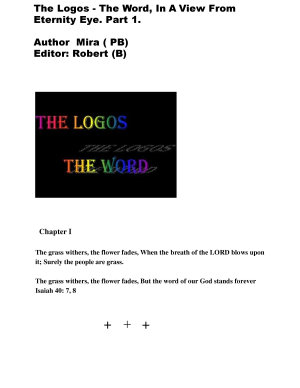 The Logos  The Word  In A View From Eternity Eye   Paperback PDF