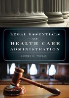 Legal Essentials of Health Care Administration PDF