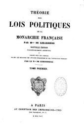 Théorie des lois politiques de la monarchie Française