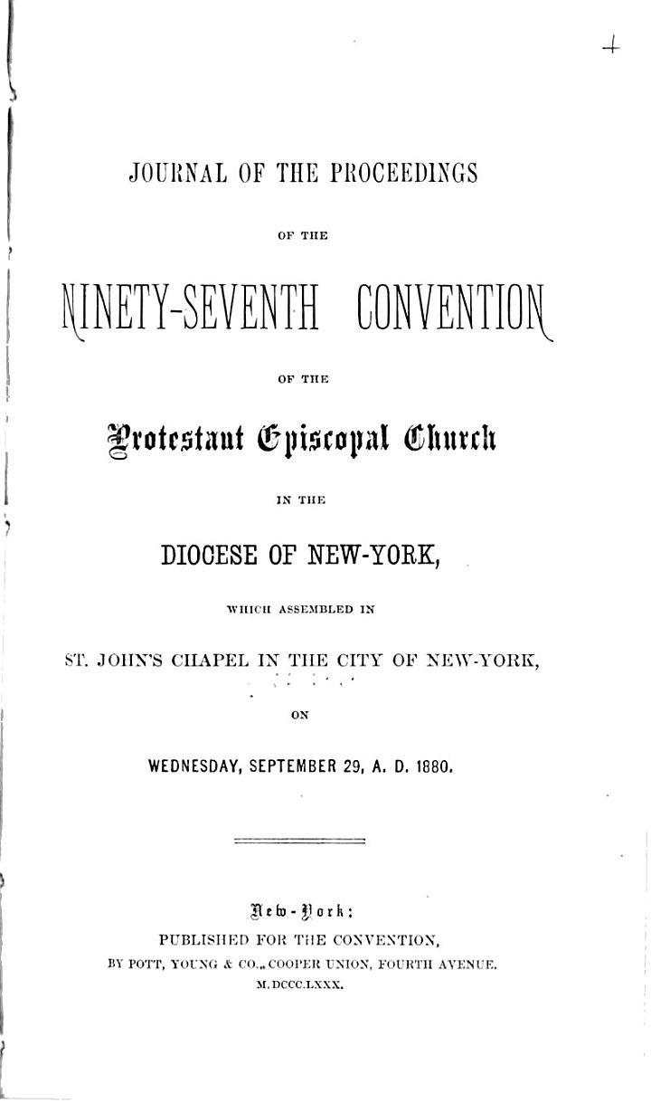 Journal of the ... Annual Convention, Diocese of New York