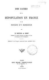 Des causes de la Dépopulation en France et des moyens d'y remédier