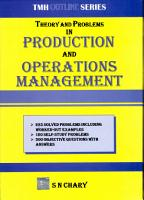 Theory and Problems in Production and Operations Management PDF