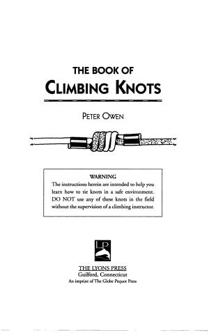 The Book of Climbing Knots PDF