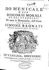 Domenicale o sia Discorsi morali su gli evangelii di tutte le Domeniche, dell'Anno