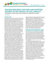 Building resilience for food and nutrition security in the context of civil conflict: Experiences from rural development programs in Yemen
