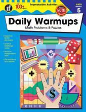 Daily Warmups, Grade 5: Math Problems & Puzzles