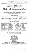 bersicht der gesamten staats  und rechtswissenschaftlichen Literatur des Jahres      PDF