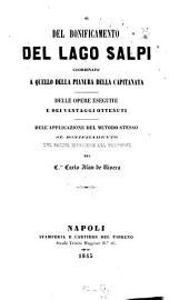 Del bonificamento del Lago Salpi coordinato a quello della pianura della Capitanata [di] Carlo Afan De Rivera
