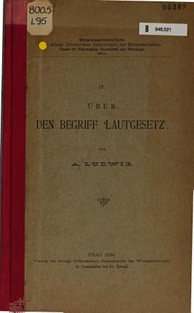 ber den Begriff  Lautgesetz  PDF