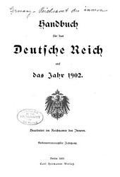Handbuch für das Deutsche Reich Bearbeitet im Reichsamte des Innern