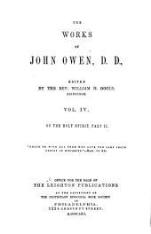 The Works of John Owen: Volume 4