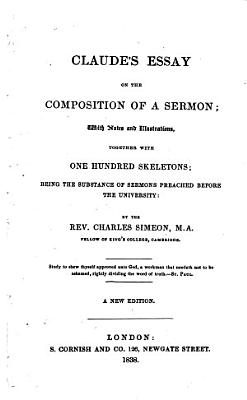 Claude s Essay on the Composition of a Sermon