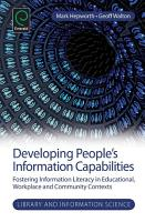 Developing People s Information Capabilities PDF