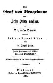"""Der Graf von Bragelonne oder: Zehn Jahre nachher: Zweite Fortsetzung der """"drei Musketiere"""", Bände 37-41"""