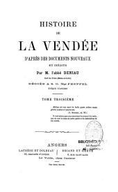 Histoire de la Vendée d'après des documents nouveaux et inédits: Volume3